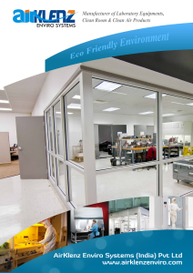 Product Catalogs for Clean Room Equipments, Manufacturer of Air shower, Fume Hood, Pass Box, Laminar Airflow, Biosafety cabinets & modular cleanrooms in india, chennai, bangalore